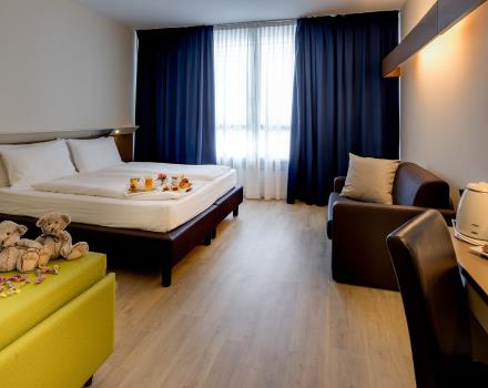 Spacious and great comfort in the rooms of the Hotel Adige Trento Familty BW!