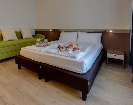 Book a Family room at the BW Hotel Adige Trento and enjoy your stay with your family or friends!